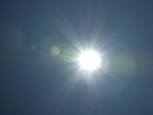 同じ太陽だが、場所が違うだけでこれだけ感じ方が違う。