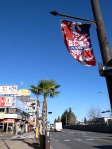 国道16号線沿い、約1.5kmにわたる商店街「FUSSA BASESIDE STREET」(撮影=bg)